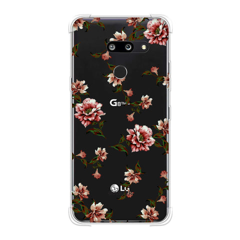 Dahlia - Olive and red Soft Flex Tpu Case For LG G8 ThinQ