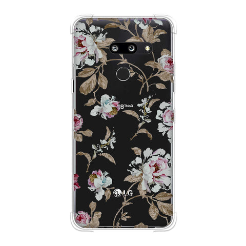 Textured roses- Lavender and pearl white Soft Flex Tpu Case For LG G8 ThinQ
