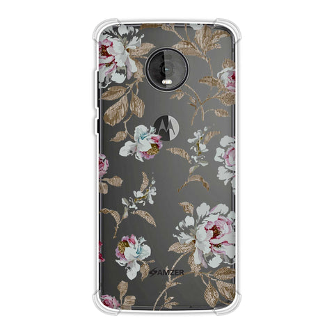 Textured roses- Lavender and pearl white Soft Flex Tpu Case For Motorola Moto Z4