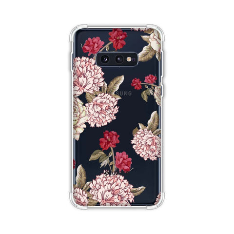 Dahlia and rose- Cream Soft Flex Tpu Case For Samsung Galaxy S10e