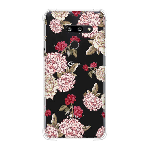 Dahlia and rose- Cream Soft Flex Tpu Case For LG G8 ThinQ
