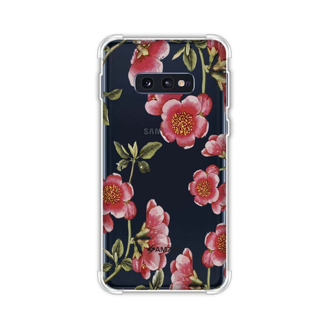 Watercolour anemone flower- Blush pink Soft Flex Tpu Case For Samsung Galaxy S10e