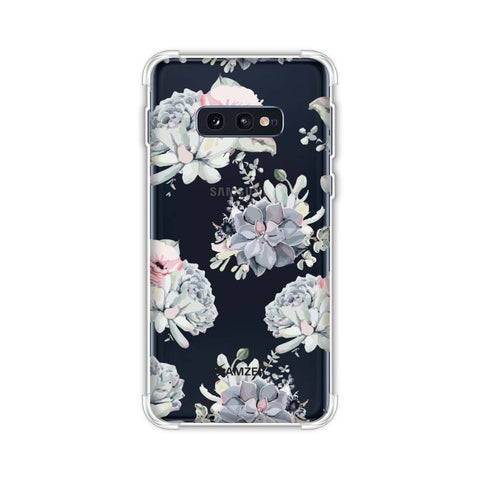 Watercolour flowers- Blue and pink Soft Flex Tpu Case For Samsung Galaxy S10e