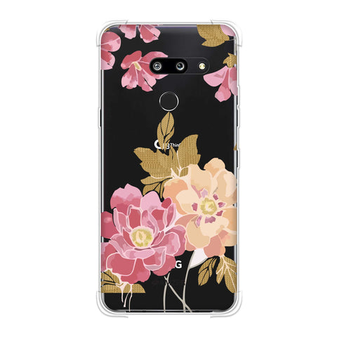 Poster floral and textured leaves- Begonia Soft Flex Tpu Case For LG G8 ThinQ
