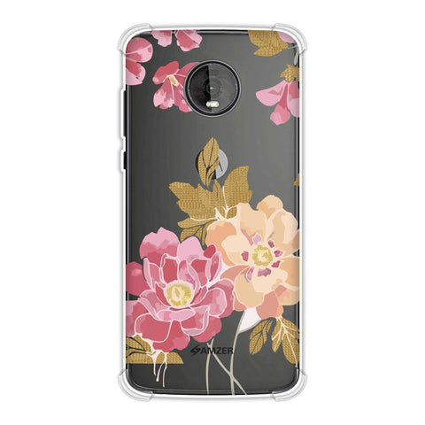 Poster floral and textured leaves- Begonia Soft Flex Tpu Case For Motorola Moto Z4