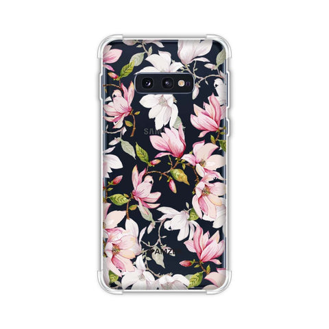 Flowers and buds- Baby pink Soft Flex Tpu Case For Samsung Galaxy S10e