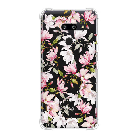 Flowers and buds- Baby pink Soft Flex Tpu Case For LG G8 ThinQ