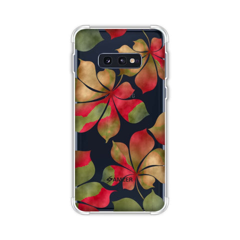 Color It Tropically - Yellow and Red Soft Flex Tpu Case For Samsung Galaxy S10e
