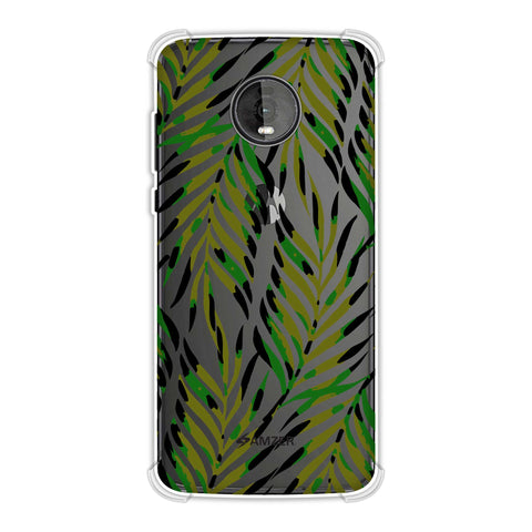 Ferns Allover - Coral Soft Flex Tpu Case For Motorola Moto Z4