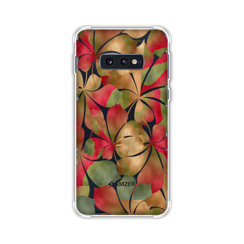 Overlapped Leaves - Green and Red Soft Flex Tpu Case For Samsung Galaxy S10e