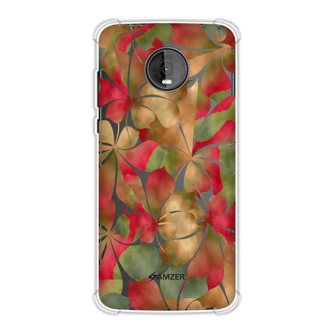 Overlapped Leaves - Green and Red Soft Flex Tpu Case For Motorola Moto Z4