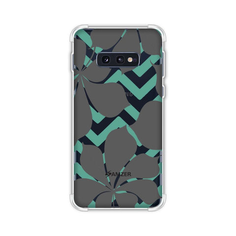 Random on Chevron - Yellow and Teal Soft Flex Tpu Case For Samsung Galaxy S10e