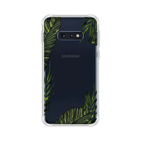 Tropical Leaves - Light Coral Soft Flex Tpu Case For Samsung Galaxy S10e