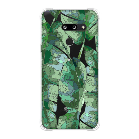 Tropically Pixelated - Teal Soft Flex Tpu Case For LG G8 ThinQ