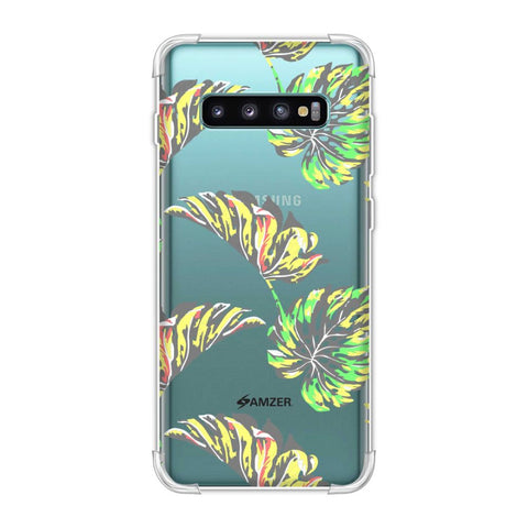 Vivid Tropical - Deep Teal Soft Flex Tpu Case For Samsung Galaxy S10 Plus