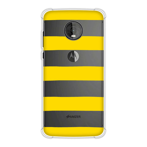 Bees - Fat Stripes Soft Flex Tpu Case For Motorola Moto Z4
