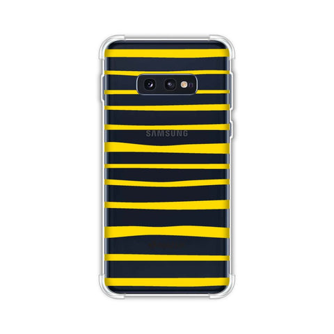 Bees - Art Stripes Soft Flex Tpu Case For Samsung Galaxy S10e