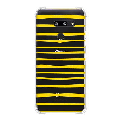 Bees - Art Stripes Soft Flex Tpu Case For LG G8 ThinQ