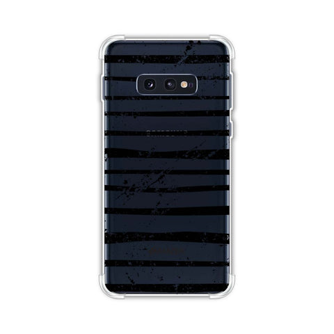 Bees - Art Stripes Grunge Soft Flex Tpu Case For Samsung Galaxy S10e