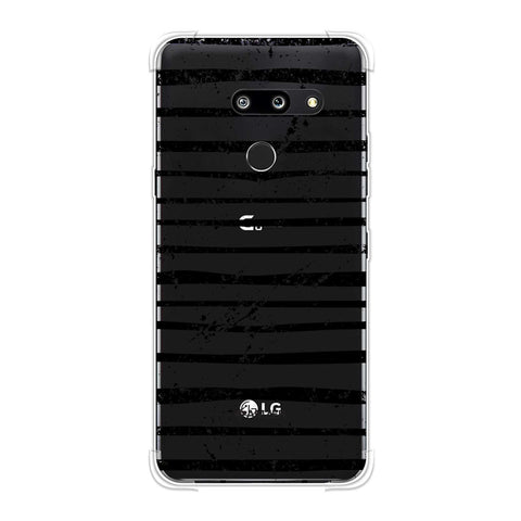 Bees - Art Stripes Grunge Soft Flex Tpu Case For LG G8 ThinQ