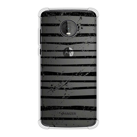 Bees - Art Stripes Grunge Soft Flex Tpu Case For Motorola Moto Z4