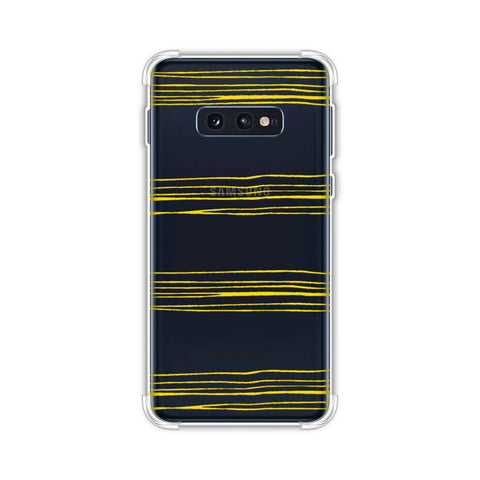 Bees - Pencil Stripes Soft Flex Tpu Case For Samsung Galaxy S10e