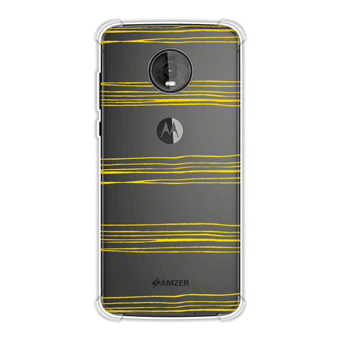 Bees - Pencil Stripes Soft Flex Tpu Case For Motorola Moto Z4
