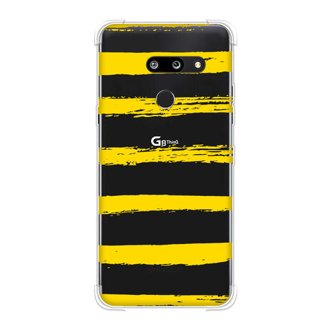 Bees - Brush Stripes Soft Flex Tpu Case For LG G8 ThinQ
