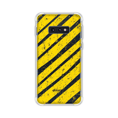 Bees - Diagonal Art Stripes Grunge Soft Flex Tpu Case For Samsung Galaxy S10e