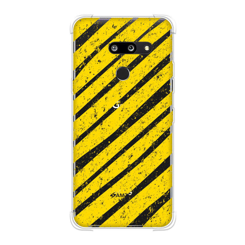 Bees - Diagonal Art Stripes Grunge Soft Flex Tpu Case For LG G8 ThinQ