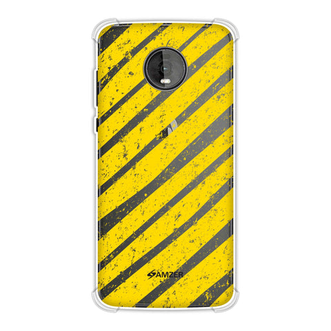 Bees - Diagonal Art Stripes Grunge Soft Flex Tpu Case For Motorola Moto Z4