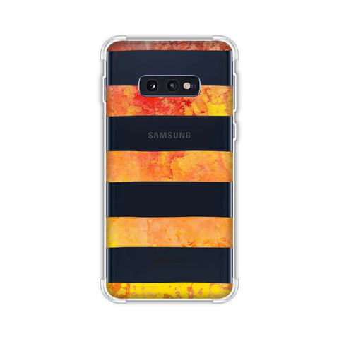 Bees - Fat Stripes - Blue And Red Bleach Soft Flex Tpu Case For Samsung Galaxy S10e