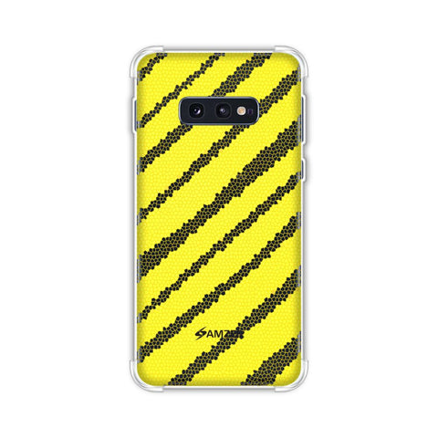 Bees - Stained Glass Diagonal Stripes Soft Flex Tpu Case For Samsung Galaxy S10e