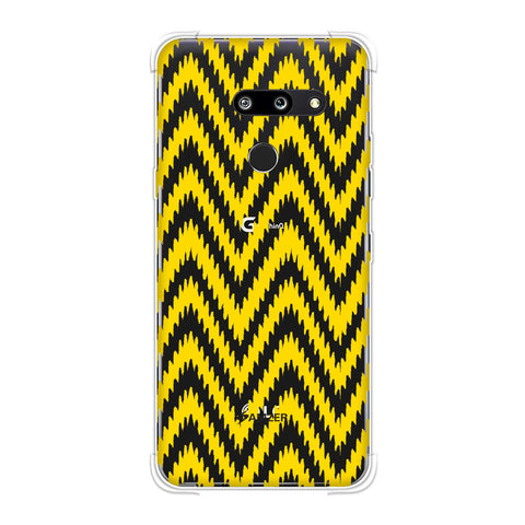 Bees - Zig Zag Chevron Soft Flex Tpu Case For LG G8 ThinQ