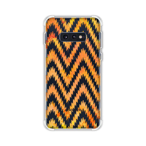 Bees - Zig Zag Chevron - Overlay - Fierce Red Soft Flex Tpu Case For Samsung Galaxy S10e