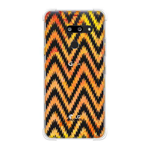 Bees - Zig Zag Chevron - Overlay - Fierce Red Soft Flex Tpu Case For LG G8 ThinQ