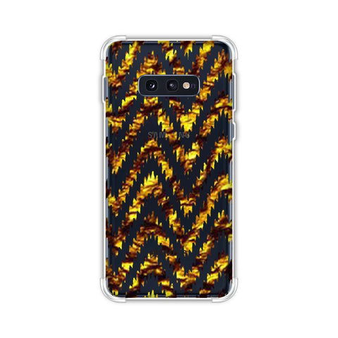 Bees - Gold Foil Chevron - Electric blue Soft Flex Tpu Case For Samsung Galaxy S10e