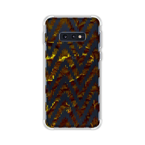 Bees - Crushed Paper - Burnt Ochre And Black Soft Flex Tpu Case For Samsung Galaxy S10e