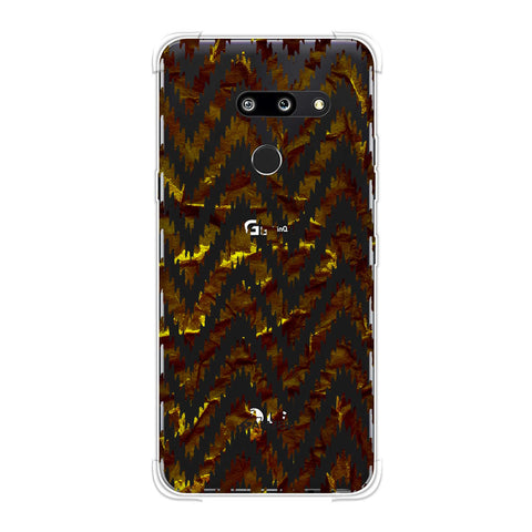 Bees - Crushed Paper - Burnt Ochre And Black Soft Flex Tpu Case For LG G8 ThinQ