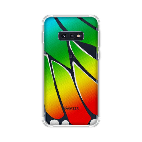Butterfly - Rainbow Fibre Wing Soft Flex Tpu Case For Samsung Galaxy S10e