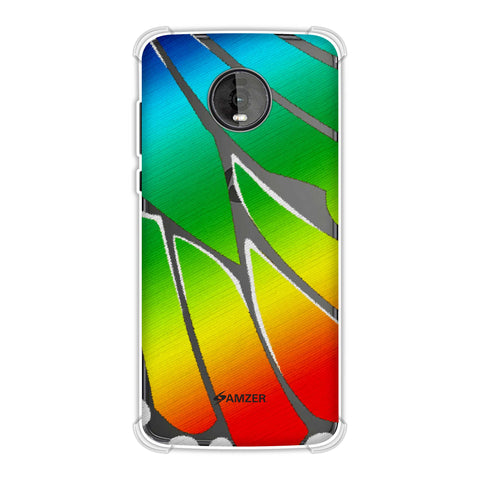 Butterfly - Rainbow Fibre Wing Soft Flex Tpu Case For Motorola Moto Z4