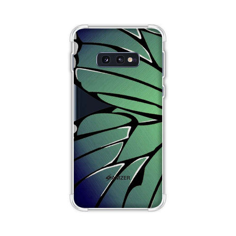 Butterfly - Blue And Green Ombre Fibre Wing Soft Flex Tpu Case For Samsung Galaxy S10e