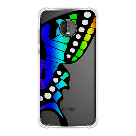 Butterfly - Fibre Wings Gradation - Rainbow Soft Flex Tpu Case For Motorola Moto Z4