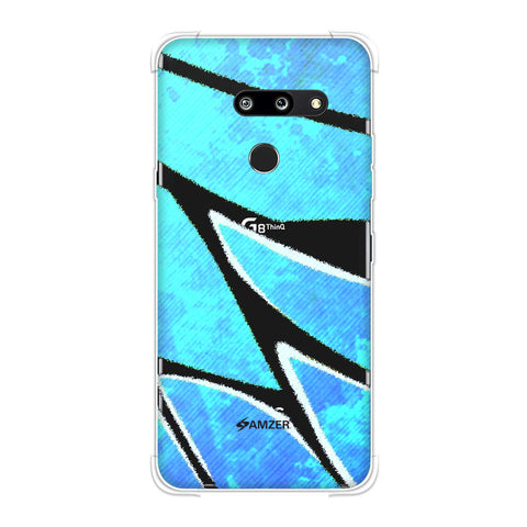 Butterfly - Blue Bleached Fibre Wing Soft Flex Tpu Case For LG G8 ThinQ