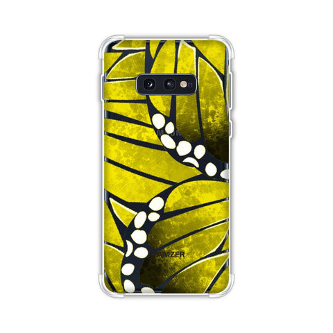 Butterfly - Mustard Ombre Bleached Fibre Wing Collage Soft Flex Tpu Case For Samsung Galaxy S10e