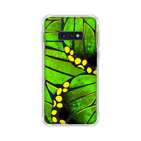 Butterfly - Green Ombre Bleached Fibre Wing Collage Soft Flex Tpu Case For Samsung Galaxy S10e