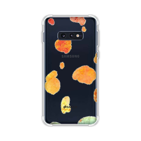 Dalmatian - Organic Watercolour Spots On Black Soft Flex Tpu Case For Samsung Galaxy S10e