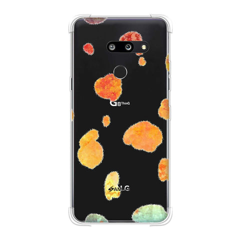 Dalmatian - Organic Watercolour Spots On Black Soft Flex Tpu Case For LG G8 ThinQ