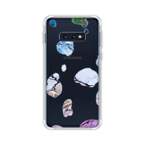 Dalmatian - Marble Spots On White Soft Flex Tpu Case For Samsung Galaxy S10e