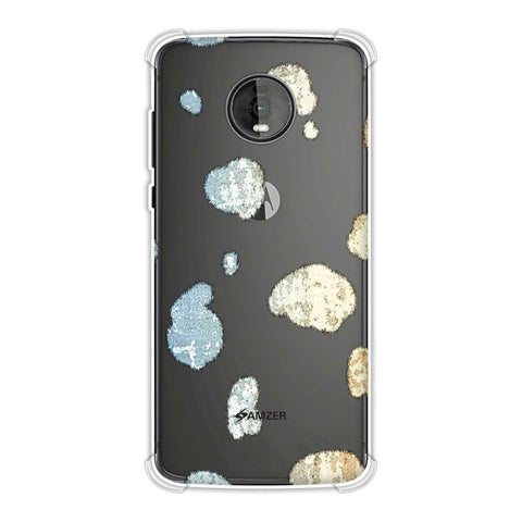 Dalmatian - Plastered Spots On Black Soft Flex Tpu Case For Motorola Moto Z4